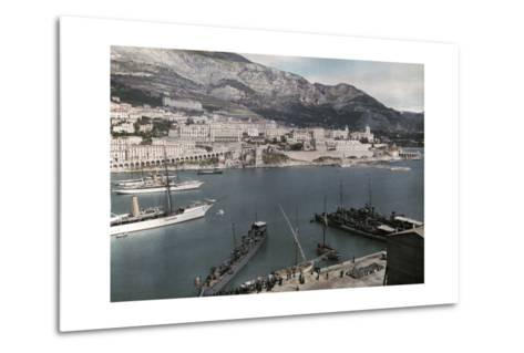 A View of Monte Carlo from the Rock of Monaco-Hans Hildenbrand-Metal Print