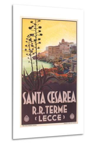 Travel Poster for Santa Cesarea--Metal Print