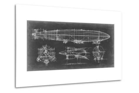 Airship Blueprint-Ethan Harper-Metal Print