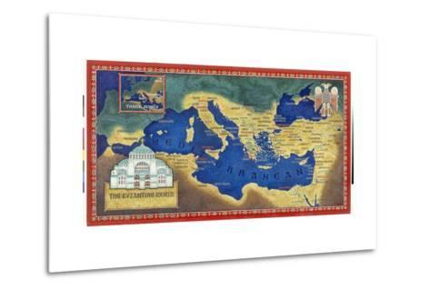 An Artist's Recreation of the Byzantine Empire under Justinian I-Jean-Leon Huens-Metal Print