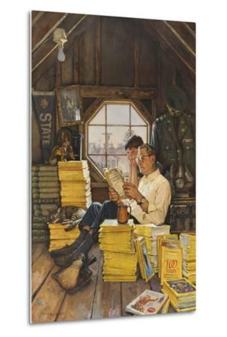 James Gurney Illustrates a Promotion of the One Hundred Years Index-James M. Gurney-Metal Print