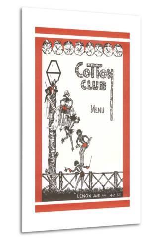 Cotton Club Menu Cover--Metal Print