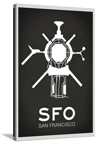 SFO San Francisco Airport--Stretched Canvas Print