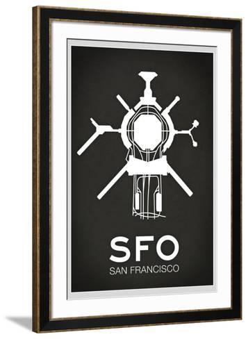 SFO San Francisco Airport--Framed Art Print