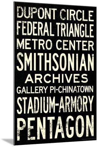 Washington DC Metro Stations Vintage Travel Poster--Mounted Poster