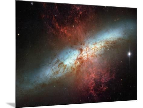 Happy Sweet Sixteen Hubble Telescope Starburst Galaxy M82 Space Photo Art Poster Print--Mounted Poster