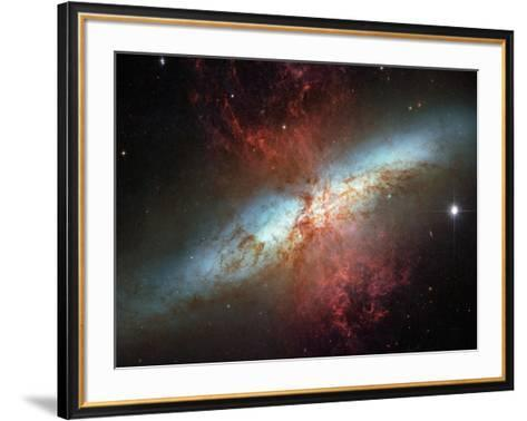Happy Sweet Sixteen Hubble Telescope Starburst Galaxy M82 Space Photo Art Poster Print--Framed Art Print
