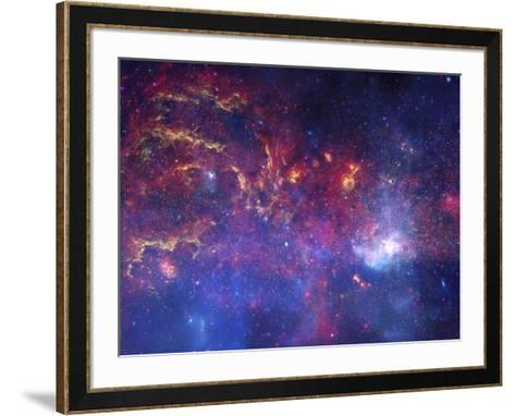 NASA's Great Observatories Examine the Galactic Center Region Space Photo Art Poster Print--Framed Art Print