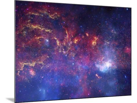NASA's Great Observatories Examine the Galactic Center Region Space Photo Art Poster Print--Mounted Poster