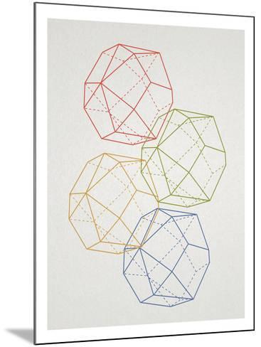 Geometric Pop Art--Mounted Poster