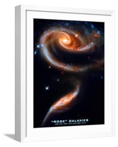 Rose Galaxies Hubble Space Photo Poster Print--Framed Art Print