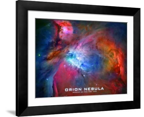 Orion Nebula Text Space Photo Poster Print--Framed Art Print