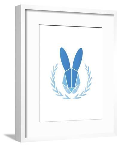 Paper Taxidermy Rabbit--Framed Art Print