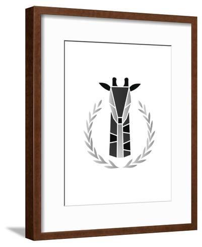 Paper Taxidermy Giraffe--Framed Art Print