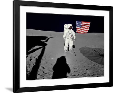 NASA Astronaut ?Spacewalk Moon Photo Poster Print--Framed Art Print