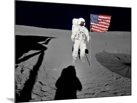 NASA Astronaut ?Spacewalk Moon Photo Poster Print--Mounted Poster