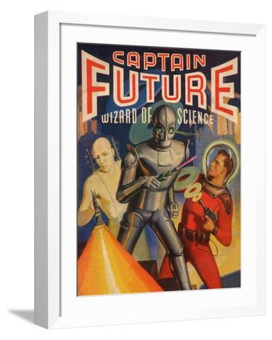 Captain Future Wizard of Science Television Poster--Framed Art Print
