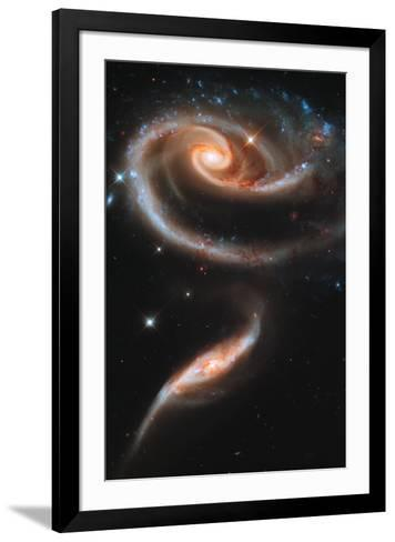 Rose Galaxy Hubble Space Photo--Framed Art Print