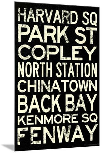 Boston MBTA Stations Vintage Subway Travel Poster--Mounted Poster