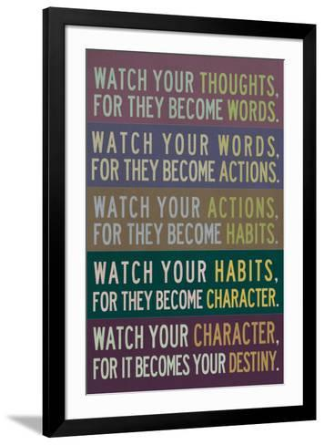 Watch Your Thoughts Modern--Framed Art Print