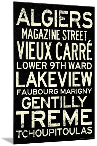 New Orleans Neighborhoods Vintage Subway Travel Poster--Mounted Poster