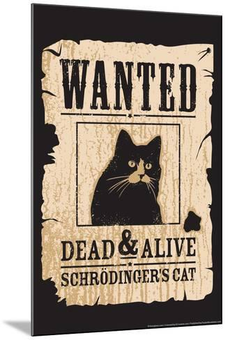 Schrodinger's Cat-Snorg-Mounted Poster