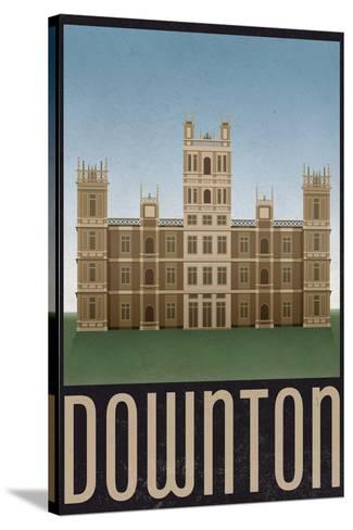 Downton Retro Travel Poster--Stretched Canvas Print