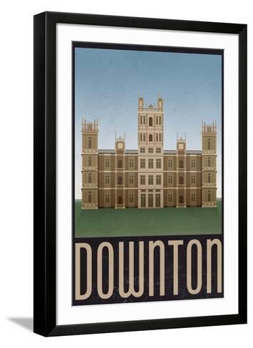Downton Retro Travel Poster--Framed Art Print