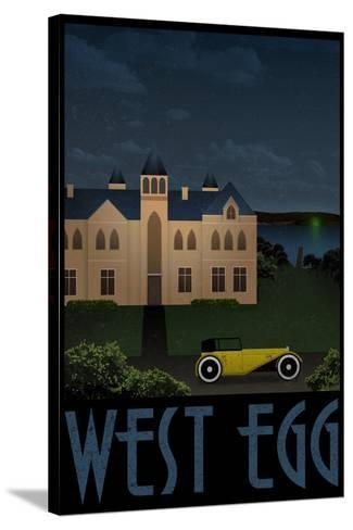 West Egg Retro Travel Poster--Stretched Canvas Print