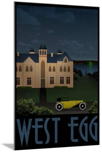 West Egg Retro Travel Poster--Mounted Poster