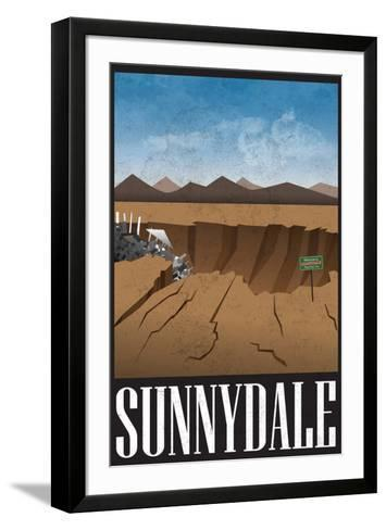 Sunnydale Retro Travel Poster--Framed Art Print