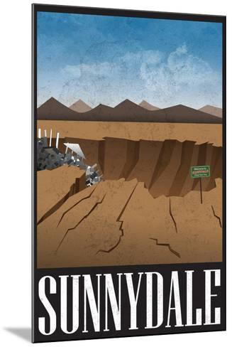 Sunnydale Retro Travel Poster--Mounted Poster