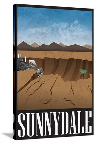 Sunnydale Retro Travel Poster--Stretched Canvas Print