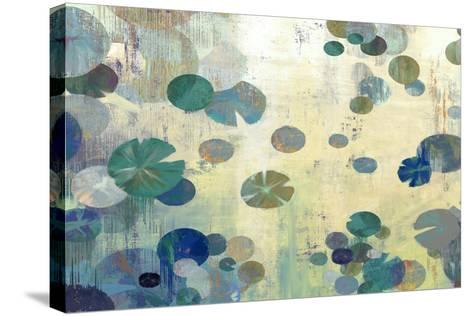 Teal Lily-Anna Polanski-Stretched Canvas Print