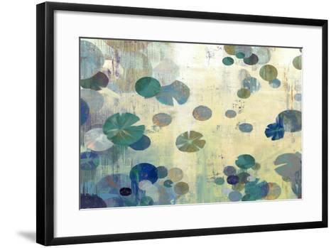 Teal Lily-Anna Polanski-Framed Art Print