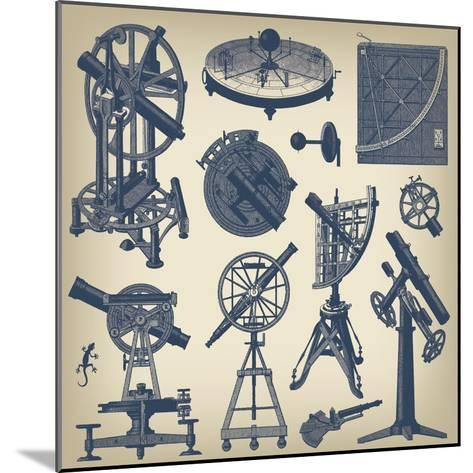 Astronomical Instruments--Mounted Art Print