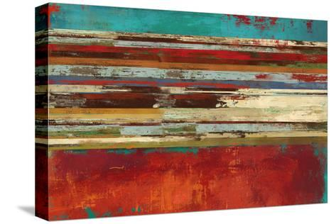 Worn Red-Sloane Addison ?-Stretched Canvas Print