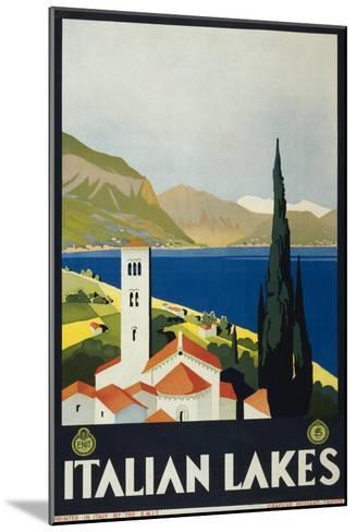 Italian Lakes--Mounted Art Print