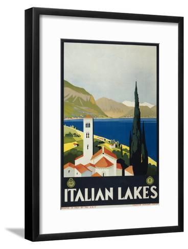 Italian Lakes--Framed Art Print