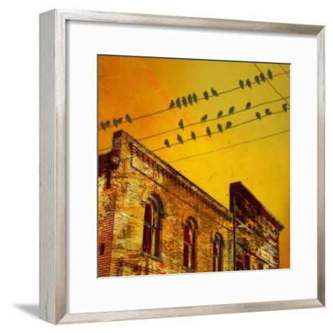 Birds on a Wire I-James McMasters-Framed Art Print
