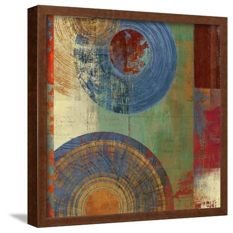 Oribis Blue on Green-Anna Polanski-Framed Art Print