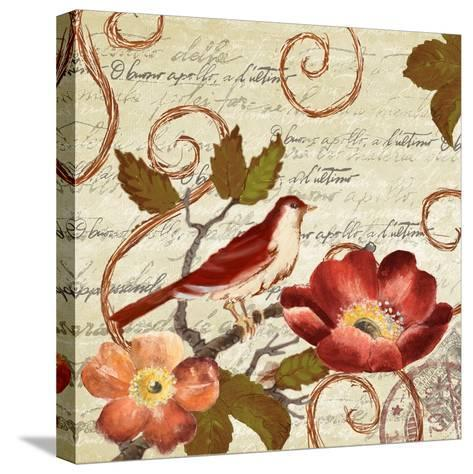 Avian on Red II-Lanie Loreth-Stretched Canvas Print