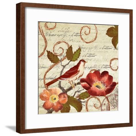 Avian on Red II-Lanie Loreth-Framed Art Print