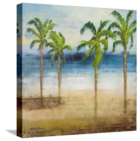 Ocean Palms I-Michael Marcon-Stretched Canvas Print