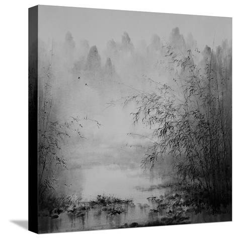 Bamboo River II--Stretched Canvas Print