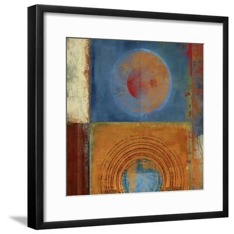 Orbis Orange and Blue-Anna Polanski-Framed Art Print