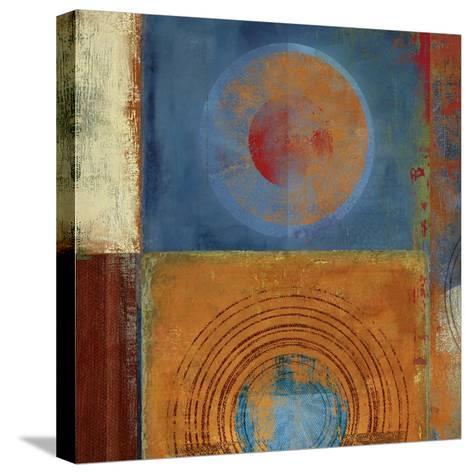 Orbis Orange and Blue-Anna Polanski-Stretched Canvas Print