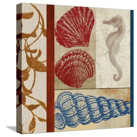 Nautical Surroundings Squares II-Elizabeth Medley-Stretched Canvas Print