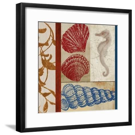 Nautical Surroundings Squares II-Elizabeth Medley-Framed Art Print