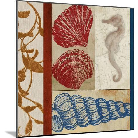 Nautical Surroundings Squares II-Elizabeth Medley-Mounted Art Print